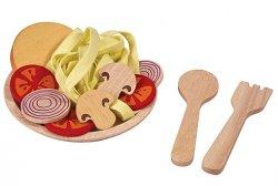 Zabawki drewniane, jedzenie